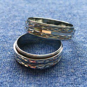 Spinner Worry Prayer Ring Stainless Steel 4for$20